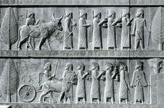 Relieves de las escaleras de la apalana de Persépolis