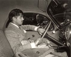 Clark Gable in his 1939 Lincoln Zephyr