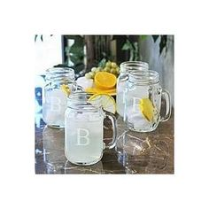 Mason Style Drinking Jars.   It's how we keep it classy.
