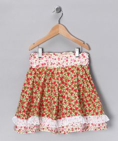 Strawberries & Tea Twirl Skirt by sewmeamemory on Etsy, $42.00