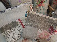 프랑스자수 ~ 햄프린넨 가방 : 네이버 블로그 Linen Bag, Zipper Bags, Cloth Bags, Bag Making, Louis Vuitton Damier, Tote Bag, Purses, Sewing, Totes