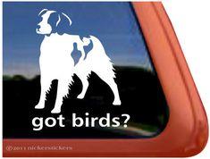 "Got Birds? - American Brittany - DC325GOT - High Quality Adhesive Vinyl Window Decal Sticker - 5"" tall x 4"" wide on Etsy, $7.29"