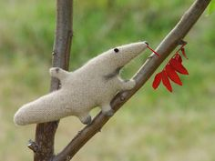 Little Ant-eater stuffed plush toy upcycled. by NaBakir on Etsy