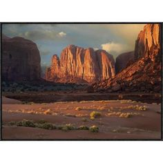 East Urban Home 'Camel Butte Rising From The Desert Floor, Monument Valley, Arizona' Framed Photographic Print Size: