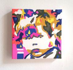my little portrait* Acryl auf Leinwand 20x20x4cm Porträtmalerei vom Foto Camouflage-Stil reduziert
