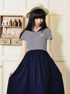 sail away dress #Japanese #Size-m #Size-xs-s
