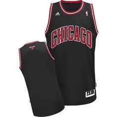 Chicago Bulls Blank Black Swingman Jersey