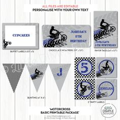 Motorcross / Motorbike Birthday Party door LittleDimpleDesigns