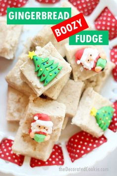Spread Christmas cheer with easy gingerbread boozy fudge for homemade holiday gifts. Filled with vodka, for grown-ups only, video recipe. Easy Holiday Desserts, Holiday Recipes, Holiday Gifts, Christmas Goodies, Christmas Diy, Dessert Recipes, Snack Recipes, Pie Recipes, Brunch Recipes