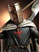 Templario con Bandera, Siglo XII SM-F52 54 mm 1/32 | Serie Caballeros Medievales | Miniaturas Andrea | Andrea Europe