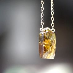 Tourmaline Pendant Necklace on Gold Chain by AUREATA on Etsy, $70.00