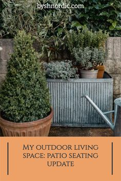 There were a few things that I focused on to create a dreamy, cosy outdoor space where you can enjoy spending lots of time: Outside Living, Outdoor Living, Zinc Planters, Garden Maintenance, Side Garden, Organic Gardening Tips, Patio Seating, Small Patio, Garden Projects