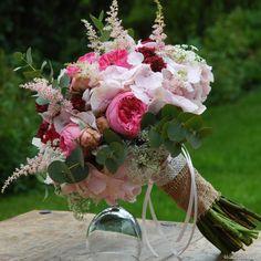 Romantická svatební kytice