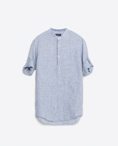 Image 8 of MANDARIN COLLAR SHIRT from Zara