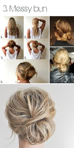 Just daily things: Top 4 hair do's: braids, buns  ponytails + how to do it yourself!