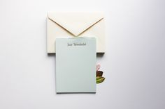 Stay Wonderful  gold foil stationery
