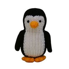 Penguin by Knitables FREE knitting pattern. You will need to be able to knit, purl, cast on and off, increase and decrease, change colours and sew seams. All pieces are knitted flat on straight needles. Baby Knitting Patterns, Knitting Yarn, Free Knitting, Charity Knitting, Knitted Animals, Knitted Cat, Paintbox Yarn, Christmas Knitting, Double Knitting