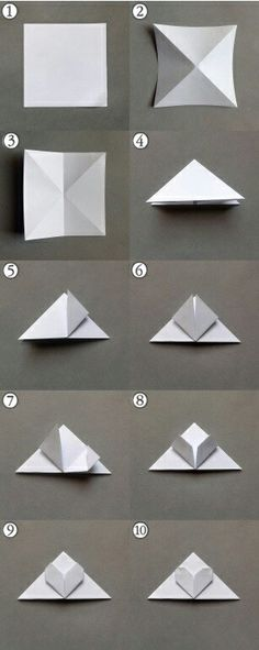 Origami Bookmark Step By Step Heart Ideas Origami Design, Diy Origami, Origami Simple, Easy Origami For Kids, Origami Ball, Origami And Kirigami, Paper Crafts Origami, Useful Origami, Paper Crafting