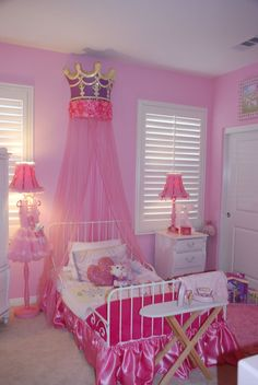 Princess bedrooms | My little princess room is turning out tutu cute... Already got the bed