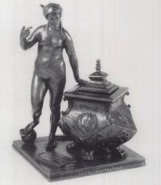 Peter Vischer the Younger, Inkstand with an allegory of Fortune, c. 1515-20, brass, Nuremberg.  Photo: Ashmolean Museum, Oxford.