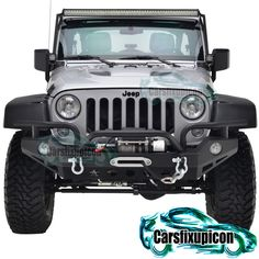 07-16 Jeep Wrangler JK Front Bumper w/ OE Fog Light Housing-Textured Black
