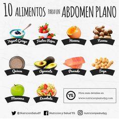 Abdomen plano 10 comidas para conseguirlo - Race Tutorial and Ideas Healthy Menu, Healthy Tips, Healthy Eating, Healthy Recipes, Proper Diet, Junk Food, Keto Diet Plan, Food Hacks, Diet Tips