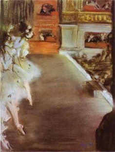 Artwork by Edgar Degas, Dancers in the Old Opera House, 1877 Made of Pastel