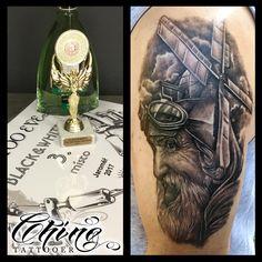 Don Quixote by Chino #tattoo #tattoos #tatted #tattooed #tatts #tattooist #tattooing #tattooart #art #artist #tattooartist #tattooer #ink #inked #inkedup #inklife #inklife #blackandwhite #blackandgrey #blackandgreytattoo #oldman #mill #windmill #donquixote