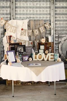 Our Story Begins Custom burlap wedding banner by IStillDream