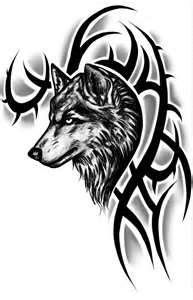 Tribal Wolf Tattoo Design By ChaoticInsanity13 On DeviantART  Wow - Zach I think would love this.