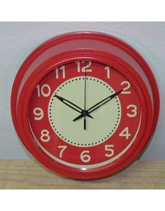 Reloj vintage rojo