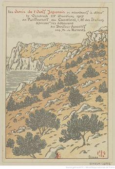 Les Amis de l'Art Japonais se réuniront à dîner le Vendredi 25 Janvier 1907 au Restaurant du Cardinal, 1, B.d des Italiens : [carton d'invitation, estampe] / HR [Henri Rivière] [monogr.]