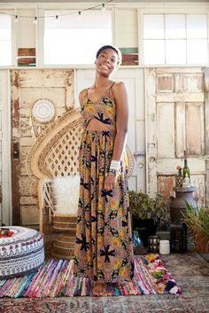Roxanne Retro Floral Maxi Dress #earthboundtrading #festivalseason