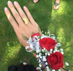 Prom || Corsage || Prom Accessories || Red Roses || Manicure || Pretty || Elegance Collection || Brass || JoJo Rings