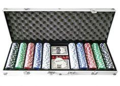 VALIGETTA 500 FICHES ALLUMINIO. Valigetta 24 ore in alluminio con all'interno 2 mazzi di carte da poker e 500 fiches