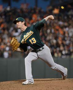 Jerry Blevins #13 Of The Oakland Athletics bringin' it!