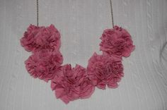 Simply Done Wright: No Sew Flower Necklace ( Anthro inspired)