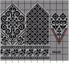 Bilderesultat for fair isle mittens pattern free Knitting Charts, Knitting Stitches, Knitting Socks, Knitting Needles, Free Knitting, Knitting Patterns, Knitted Mittens Pattern, Crochet Mittens, Knit Crochet