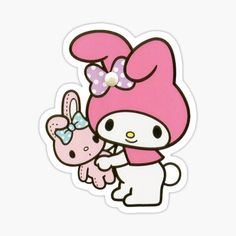 Sanrio stickers featuring millions of original designs created by independent artists. Anime Stickers, Kawaii Stickers, Cat Stickers, Laptop Stickers, Melody Hello Kitty, Sanrio Hello Kitty, My Melody, Sanrio Wallpaper, Cute Letters
