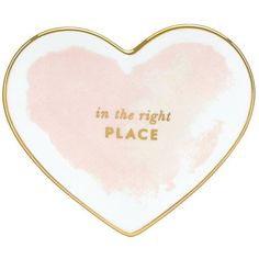 kate spade new york Blush Heart Dish White By ($20) ❤ liked on Polyvore featuring home, home decor, decor, backgrounds, fillers, extra, text, phrase, quotes and saying