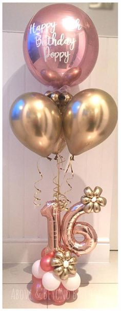 Balloon Display, Balloon Gift, Balloon Garland, Birthday Balloon Decorations, Diy Party Decorations, Birthday Balloons, Balloon Flowers, Balloon Bouquet, Happy Birthday Images