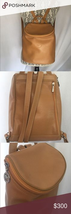 0fe0faae4899 Authentic Longchamp Tan Leather Backpack Authentic Guaranteed. Leather.  Used in good condition. Clean interior. Ask any questions. Thanks!  Longchamp Bags ...