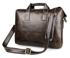 Banbury Genuine Leather Briefcase - Brown. As a loyal companion for board meetings and appointments, this briefcase is a classic essential for the Universal