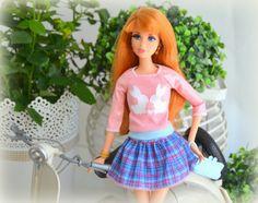 Midge y su vespa nueva. New outfits. (Barbie)