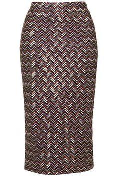 Chevron Sequin Tube Skirt