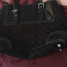 Black Coach Purse This is a black coach purse used has some wear on the bottom other wise great shape Coach Bags Shoulder Bags