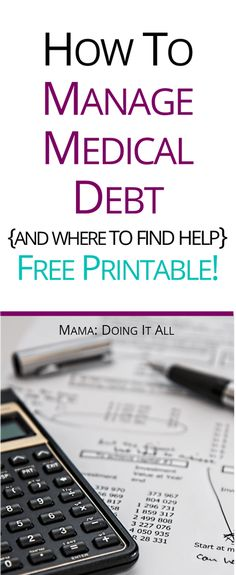 How medical debt is different from other debt, and how to manage it. Free printable to keep you organized! #medicaldebt #hospitalbills Living On A Budget, Frugal Living Tips, Ways To Save Money, Money Saving Tips, Chd Awareness, Paying Off Credit Cards, Student Loan Debt, Medical Information, Budgeting Tips