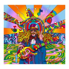 Hippie Musician Pop Art psychedelic by Howie Green, via Flickr