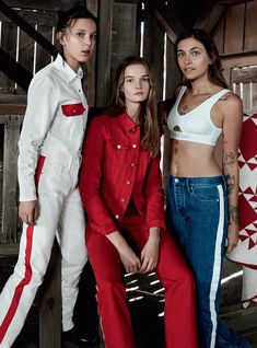 The new Calvin Klein campaign features budding style icon Millie Bobby Brown alongside Paris Jackson and Lulu Tenney. Today's campaign reveal marks the fir Paris Jackson, Millie Bobby Brown, Bobbie Brown, Raf Simons, Jean Calvin Klein, My Calvins, Chloe, Brown Fashion, Poses