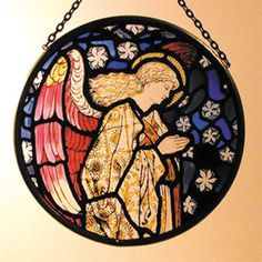 WILLIAM MORRIS ANGEL ROUNDEL, WINCHESTER CATHEDRAL